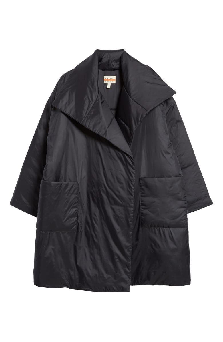 EILEEN FISHER Recycled Nylon Coat, Main, color, 001