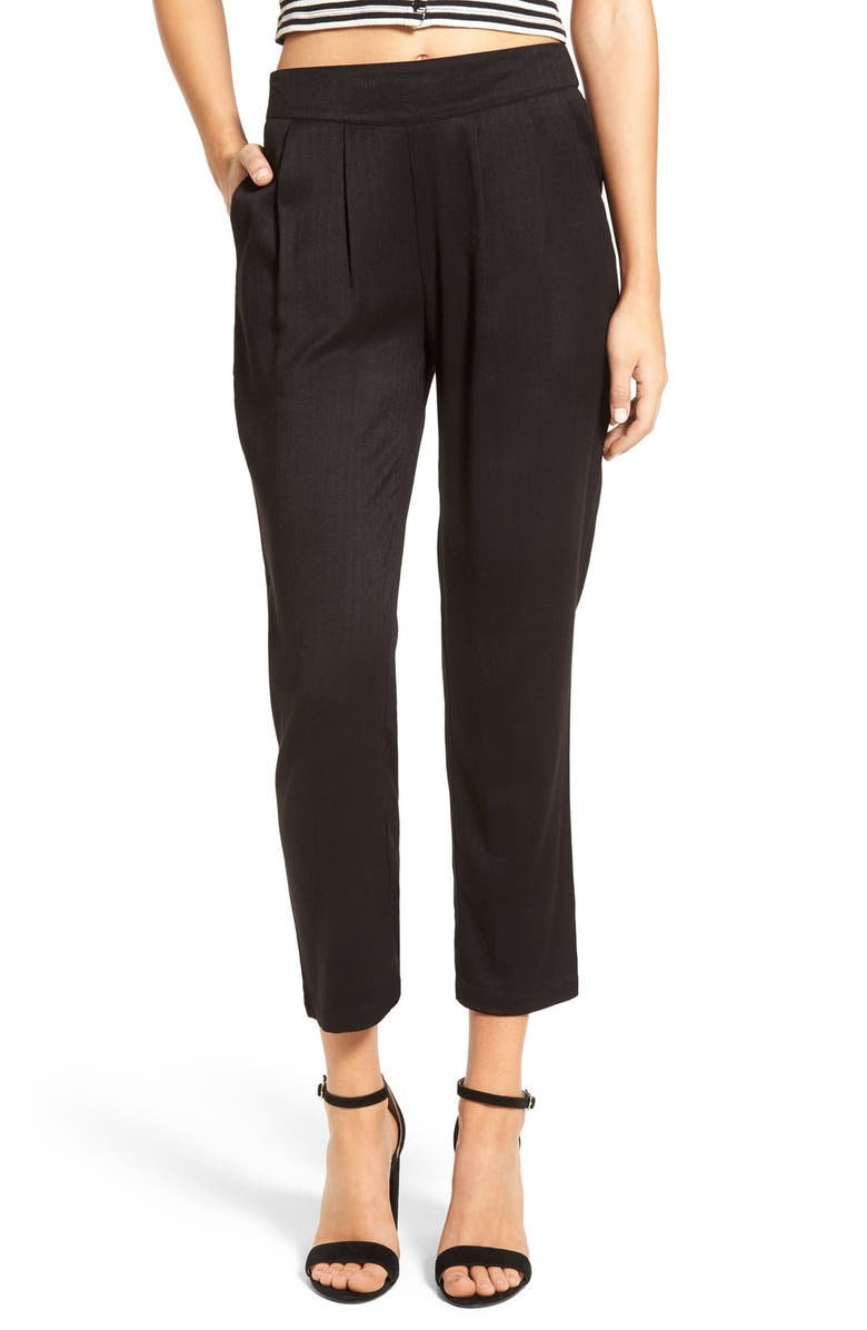 BP. Tapered Pleated Pants, Main, color, 001