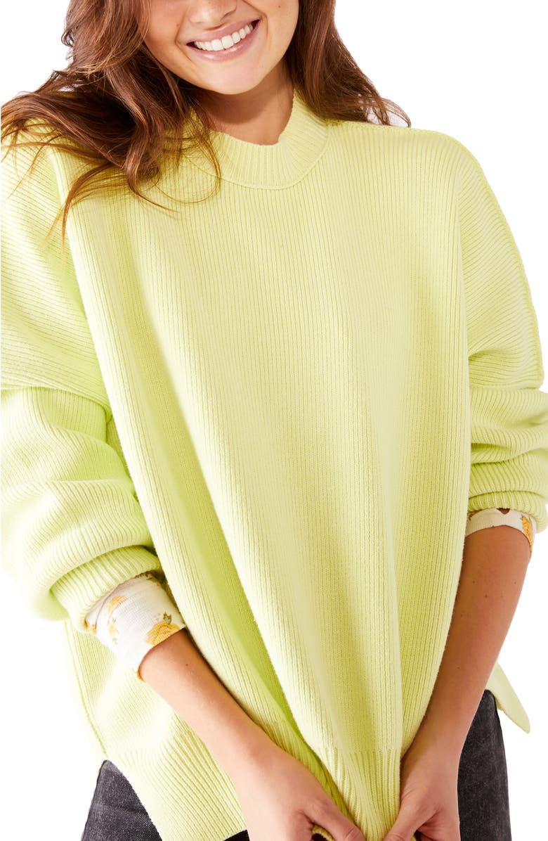 FREE PEOPLE Easy Street Tunic, Main, color, ZESTED LIME