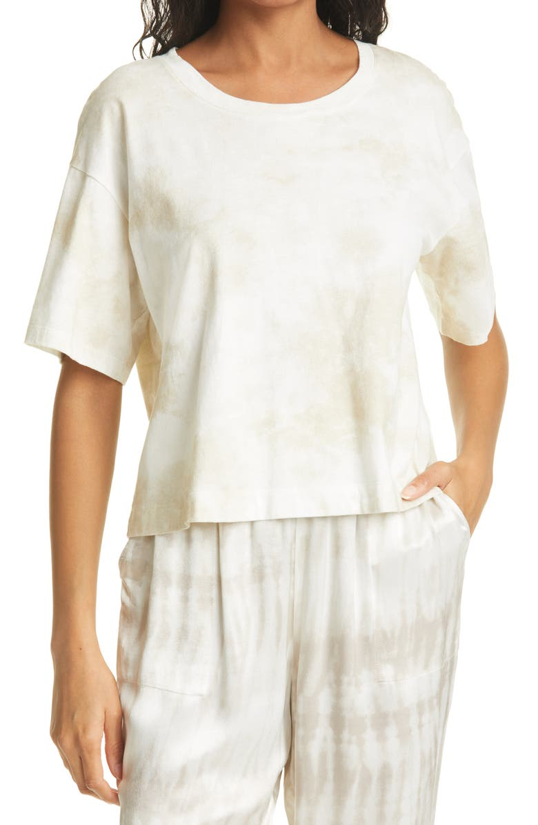 RAILS The Boxy Crew Crop Tee, Main, color, IVORY TIE DYE
