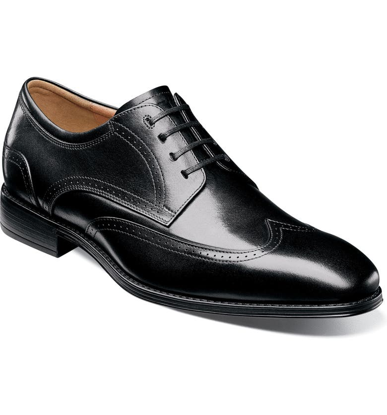 FLORSHEIM Cardinelli Wingtip, Main, color, BLACK LEATHER