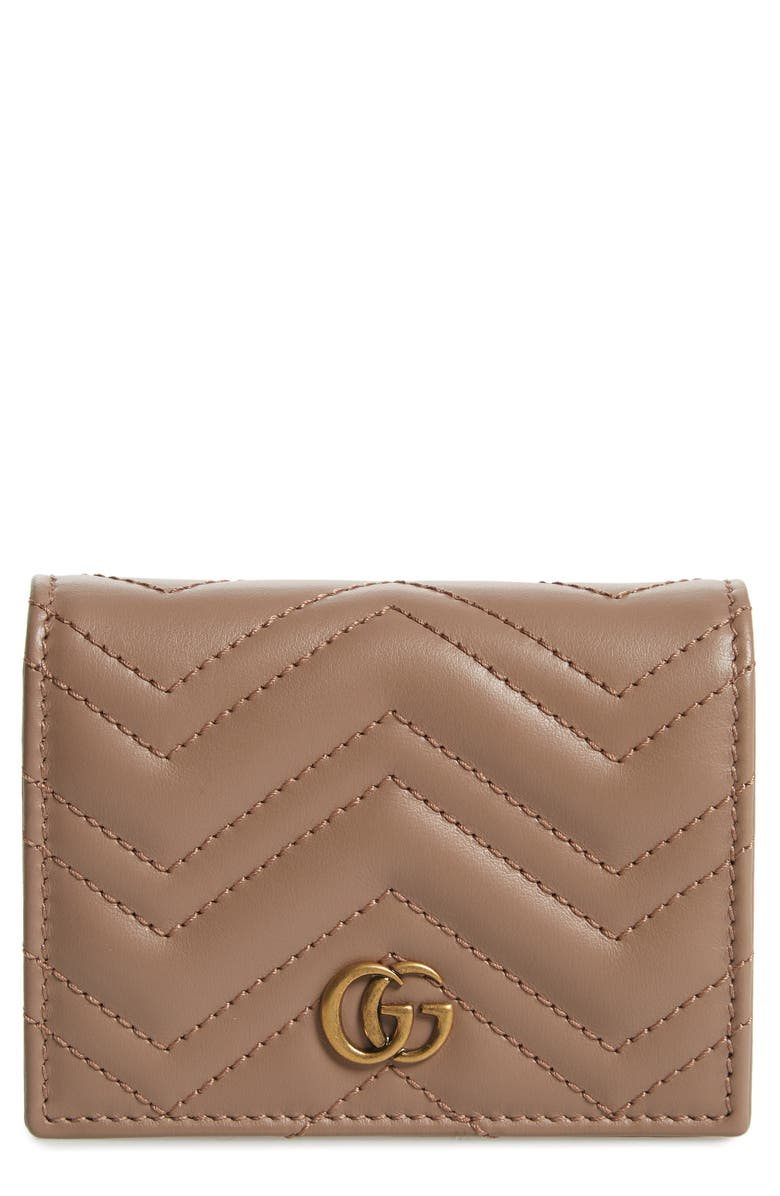 GUCCI GG 2.0 Matelassé Leather Card Case, Main, color, 250