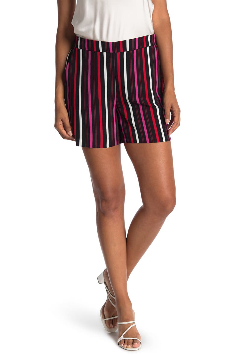 HALOGEN Soft Pull-On Shorts, Main, color, PINK B- RED C BARBARA STP