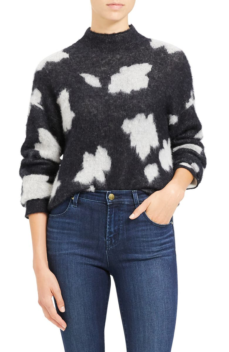 THEORY Floral Sweater, Main, color, 010