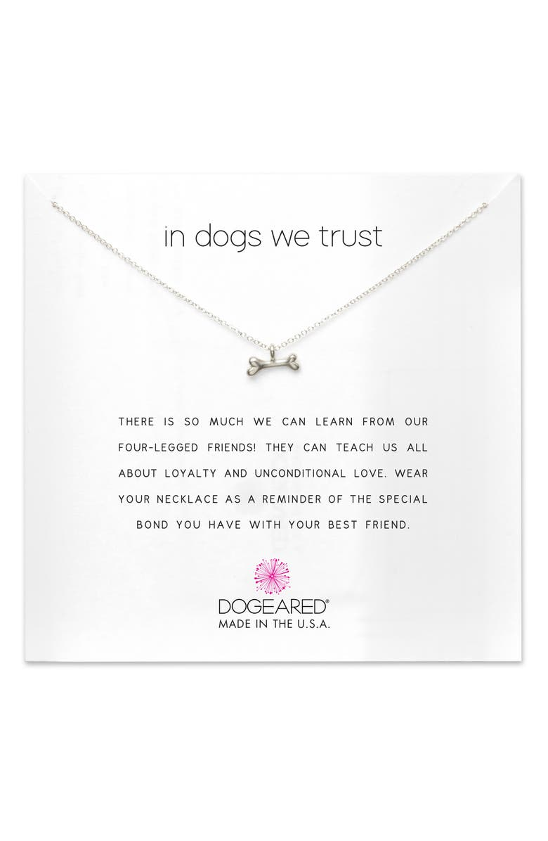 DOGEARED In Dogs We Trust Pendant Necklace, Main, color, 043
