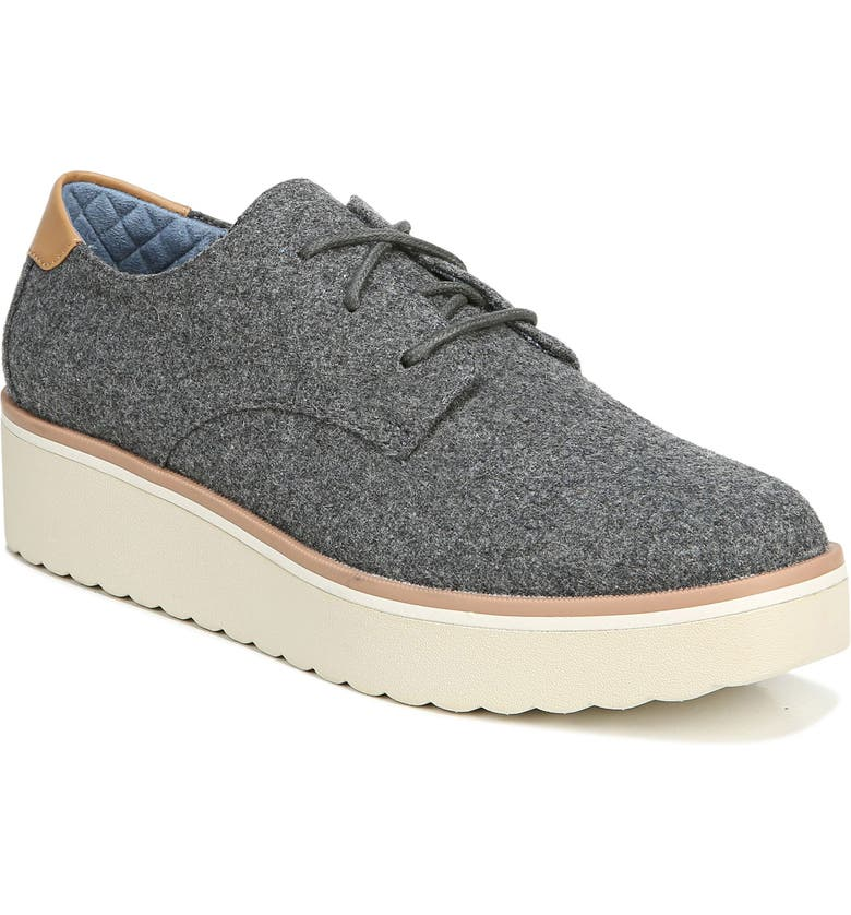 DR. SCHOLL'S Lillian Platform Oxford, Main, color, GREY FABRIC