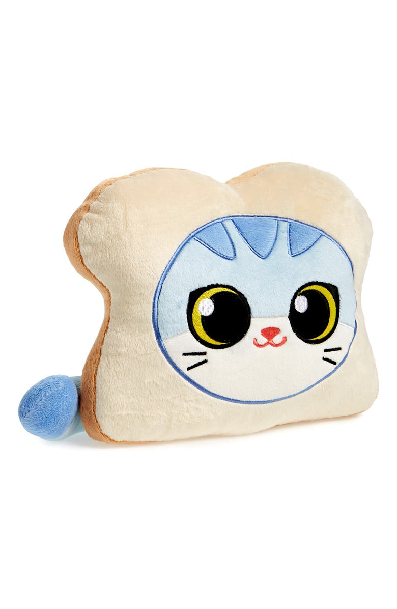 HASHTAG COLLECTIBLES Cat Bread Stuffed Pillow, Main, color, 270