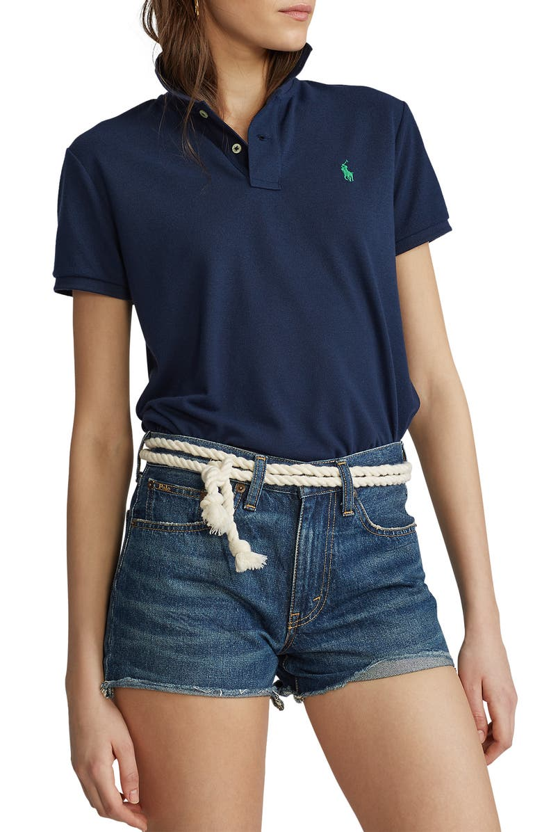 POLO RALPH LAUREN Earth Classic Fit Polo, Main, color, NEWPORT NAVY