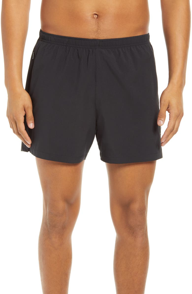 BROOKS Go-To 5-Inch Performance Running Shorts, Main, color, BLACK