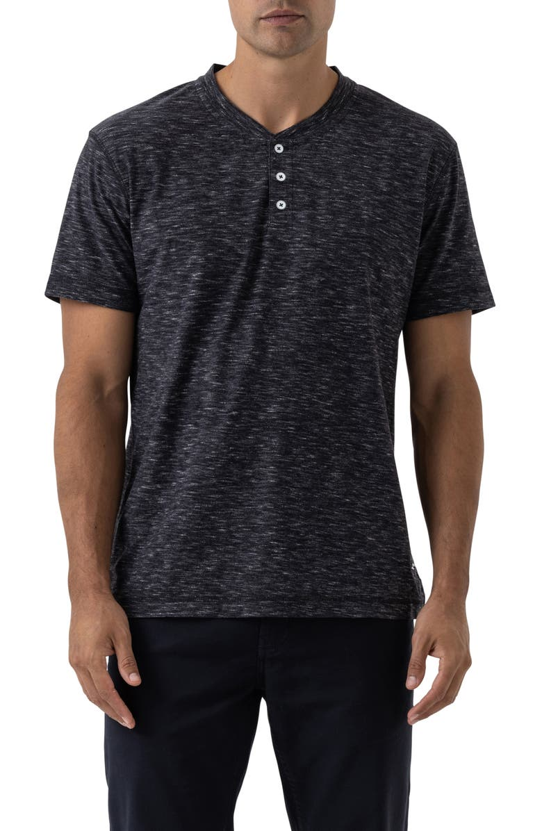 RODD & GUNN Lookout Microstripe Henley, Main, color, COAL
