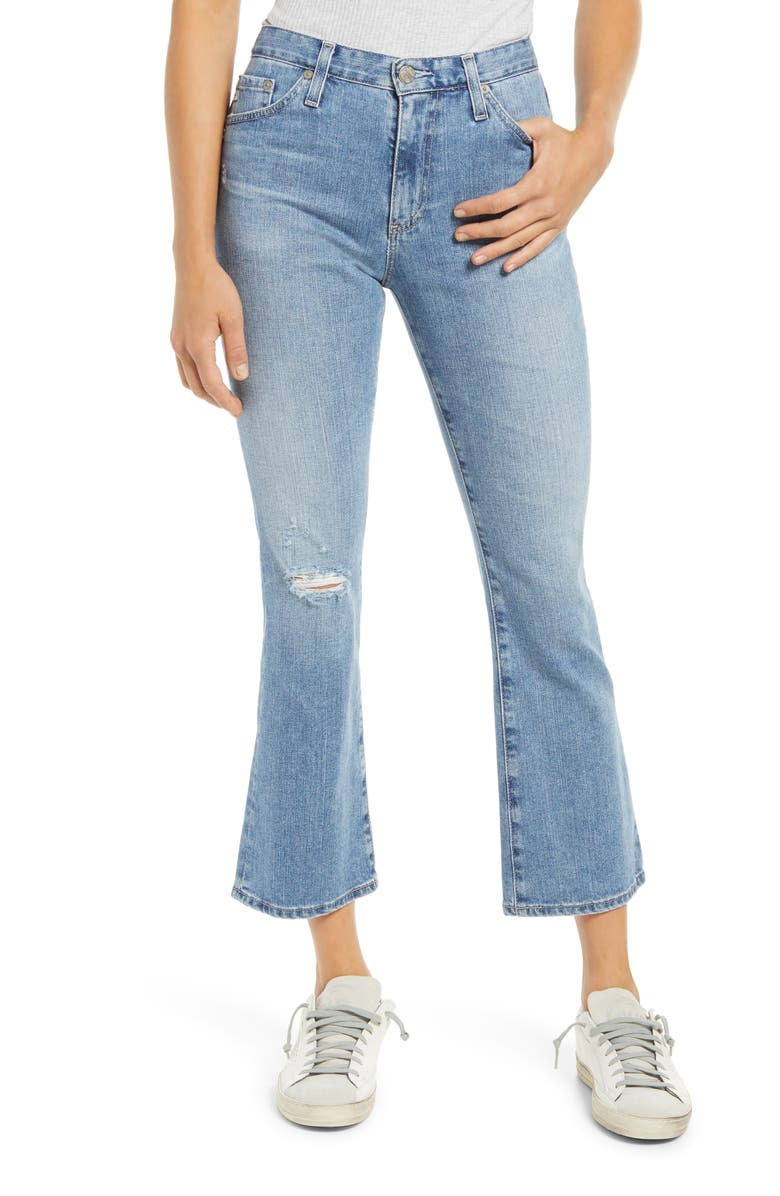 AG Jeans Jodi Ripped Crop Flare Jeans, Main, color, 22 YEARS SUCCESSION