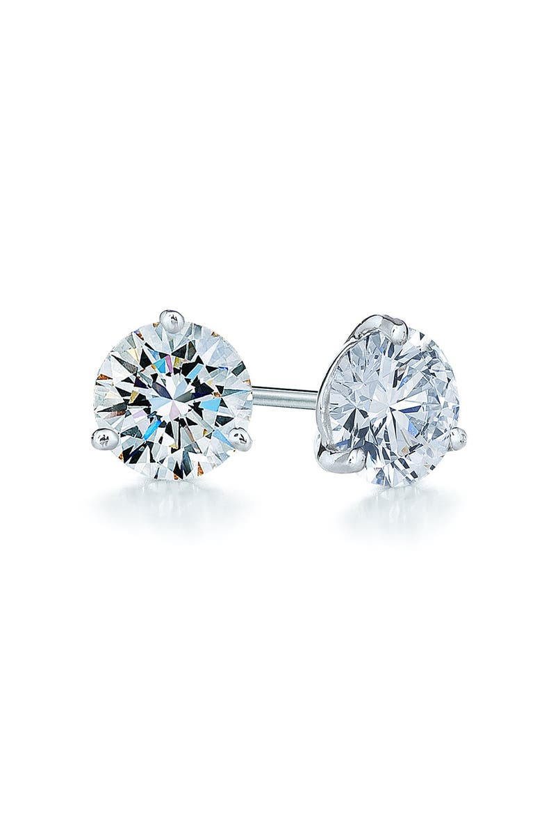 KWIAT 0.75ct tw Diamond & Platinum Stud Earrings, Main, color, PLATINUM