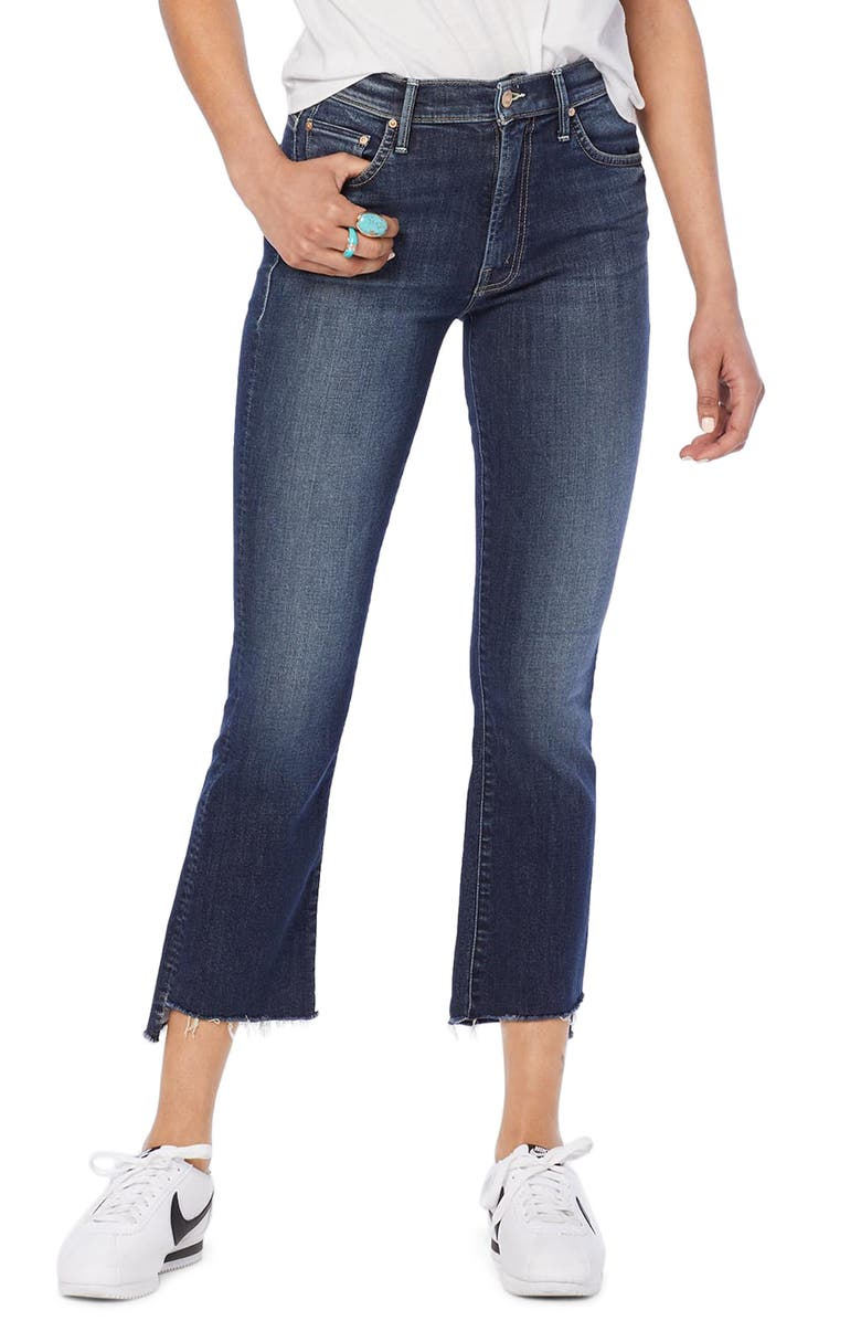 MOTHER The Insider Step Hem Crop Bootcut Jeans, Main, color, 420