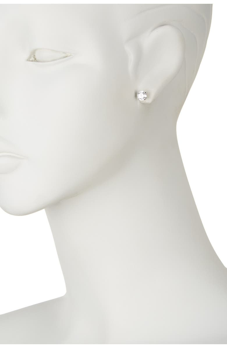 NORDSTROM RACK Sterling Silver Round Cut CZ Studs - 2.00 ctw, Main, color, CLEAR/SILVER