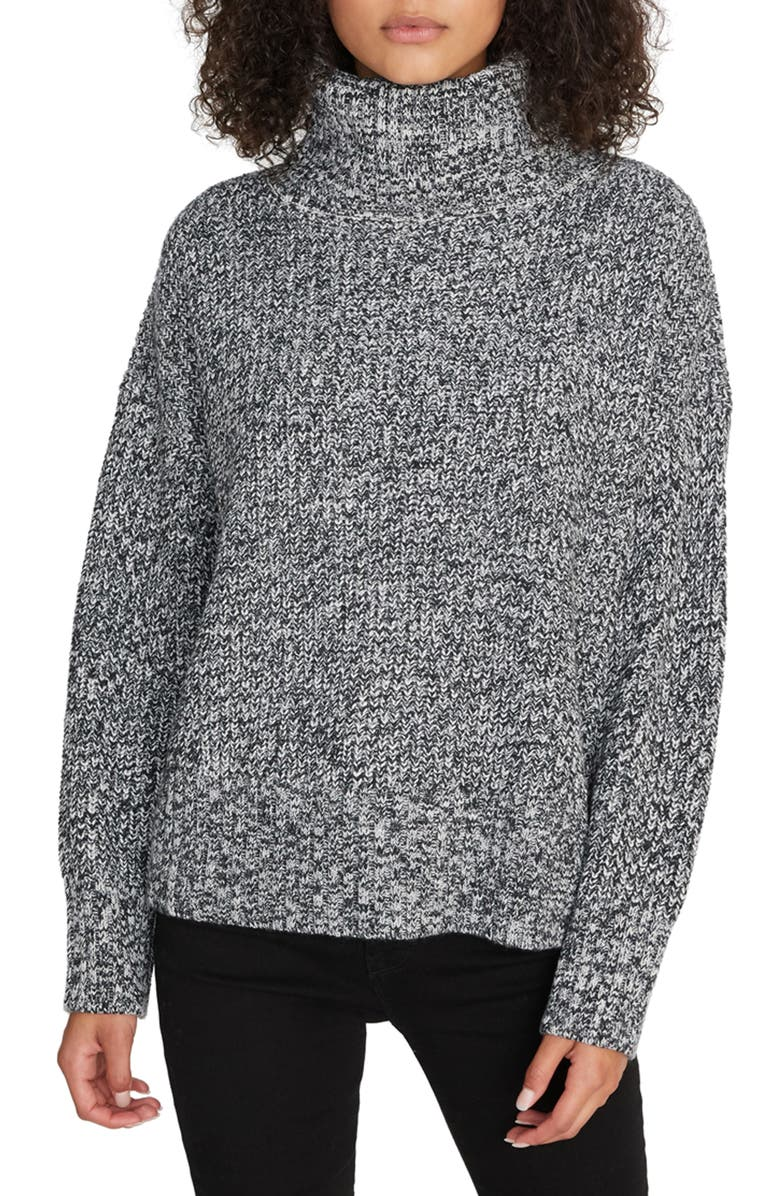 SANCTUARY Roll Neck Sweater, Main, color, 001