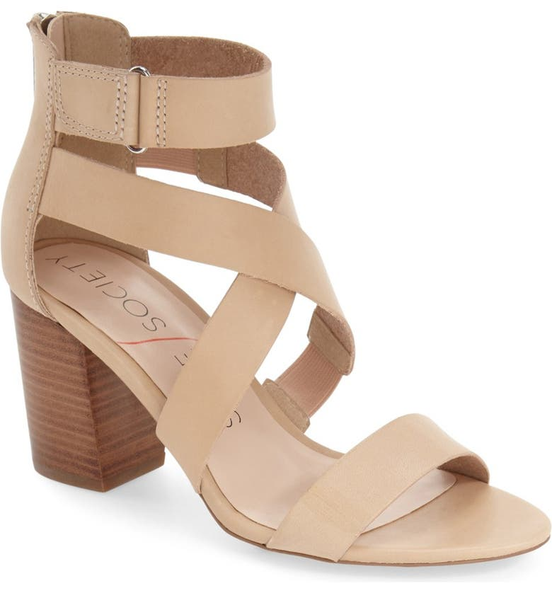 SOLE SOCIETY 'Sabina' Block Heel Sandal, Main, color, 210