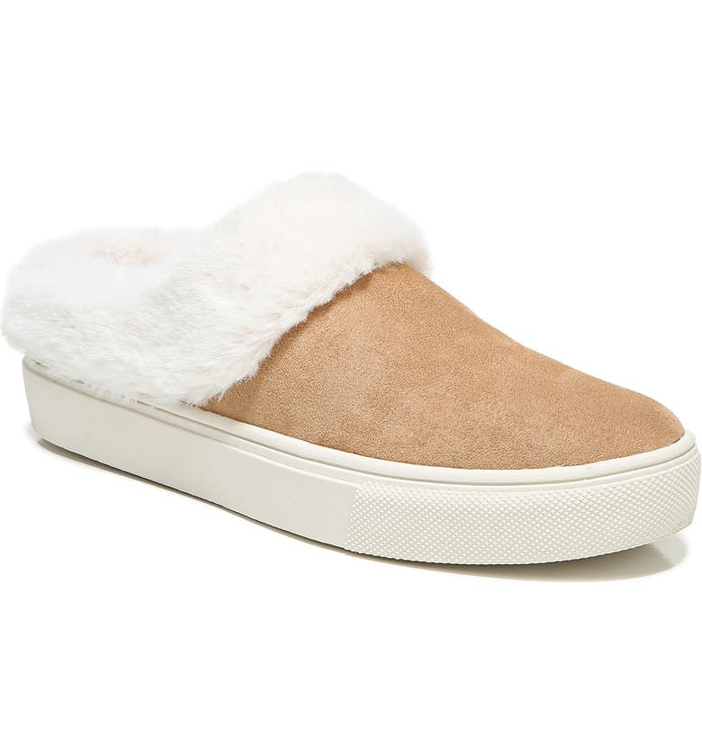 DR. SCHOLL'S Now Chill Faux Fur Slipper, Main, color, NUDE