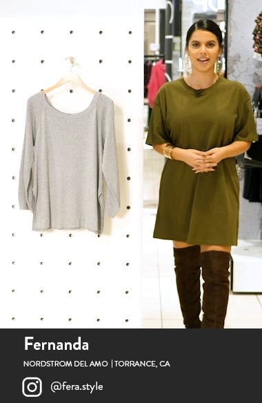 Off the Shoulder Tunic Sweater, sales video thumbnail