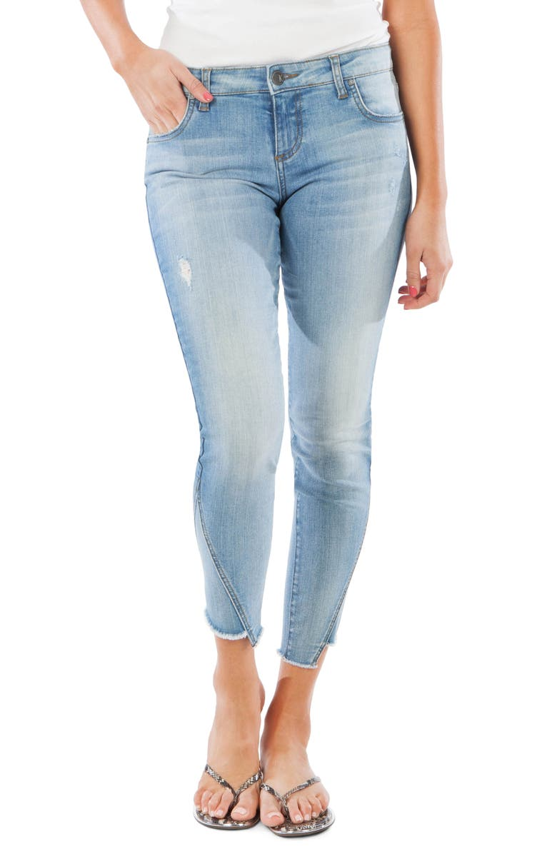 KUT FROM THE KLOTH Connie Step Hem Ankle Skinny Jeans, Main, color, BEAUTIFY
