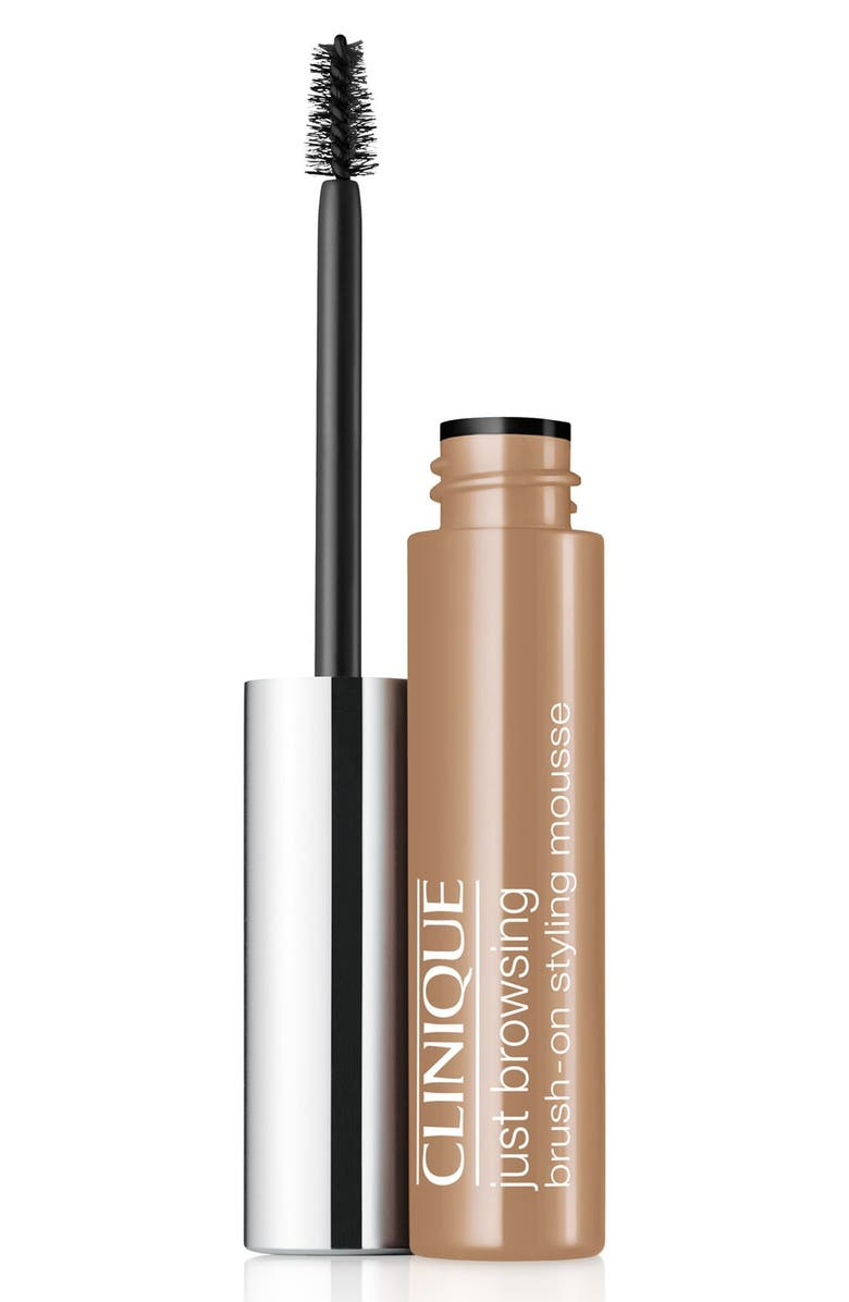 CLINIQUE Just Browsing Brush-On Tinted Brow Styling Mousse, Main, color, SOFT BLONDE / CLEAR