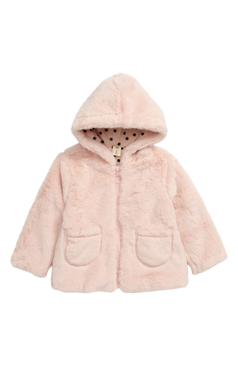 TUCKER + TATE Cozy Faux Fur Hooded Jacket, Main, color, 680