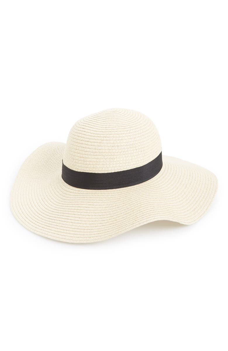 AMICI ACCESSORIES Floppy Straw Hat, Main, color, 101