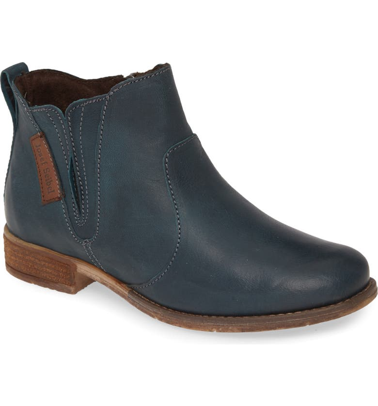 JOSEF SEIBEL Sienna 45 Chelsea Bootie, Main, color, PETROL LEATHER