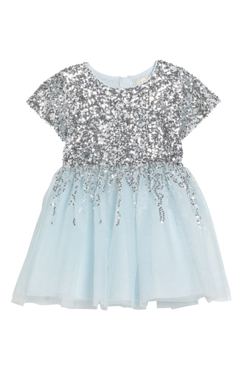 PEEK AREN'T YOU CURIOUS Peek Royal Sequin Tulle Dress, Main, color, 452