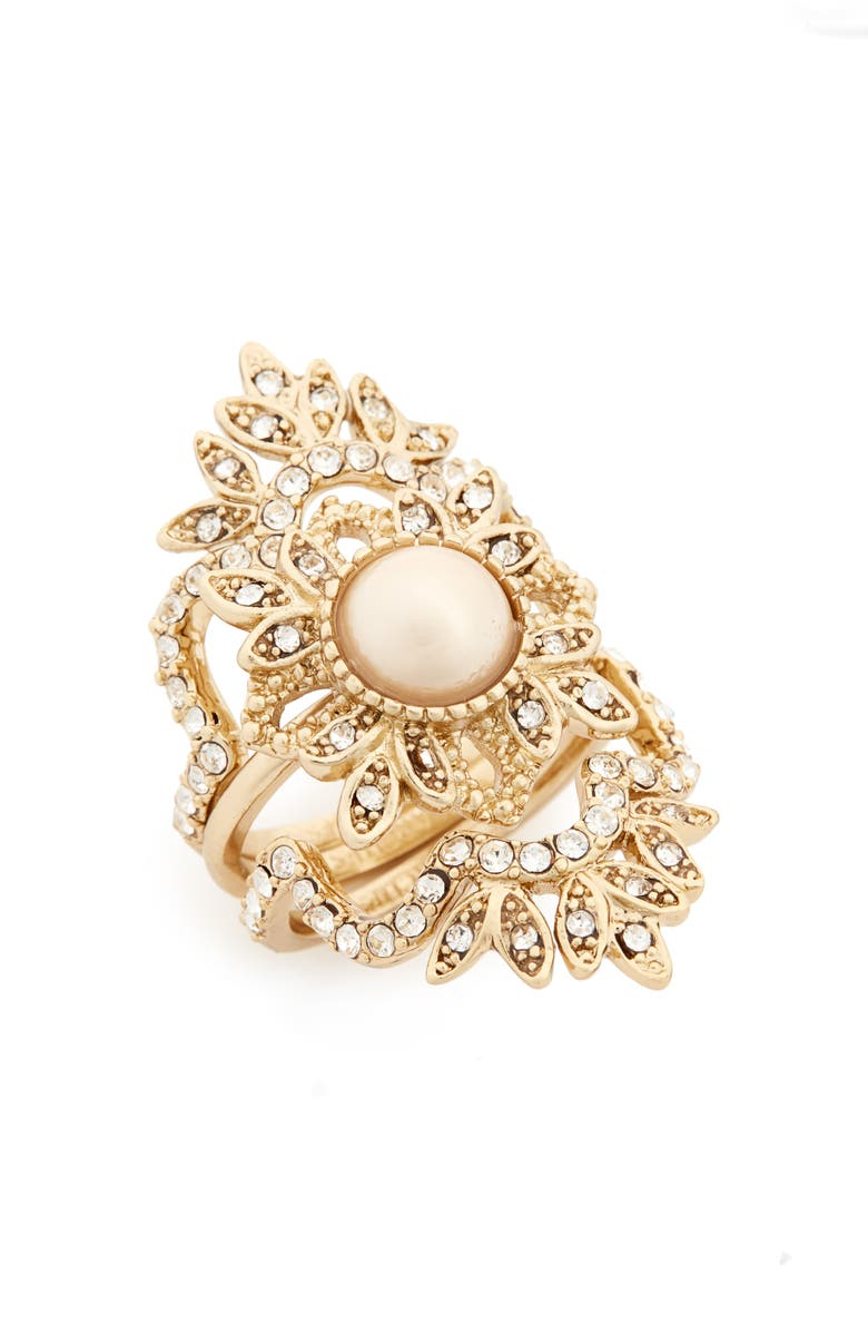 MARCHESA Set of 3 Stacking Rings, Main, color, 710