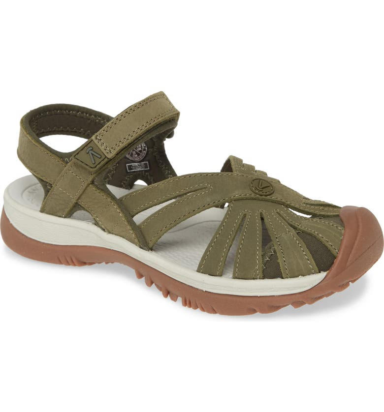 KEEN 'Rose' Sandal, Main, color, FOREST NIGHT LEATHER