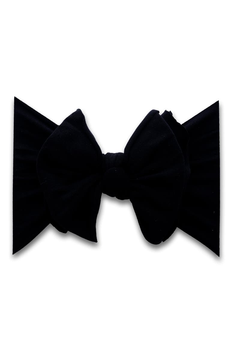 BABY BLING Fab-Bow-Lous Headband, Main, color, BLACK