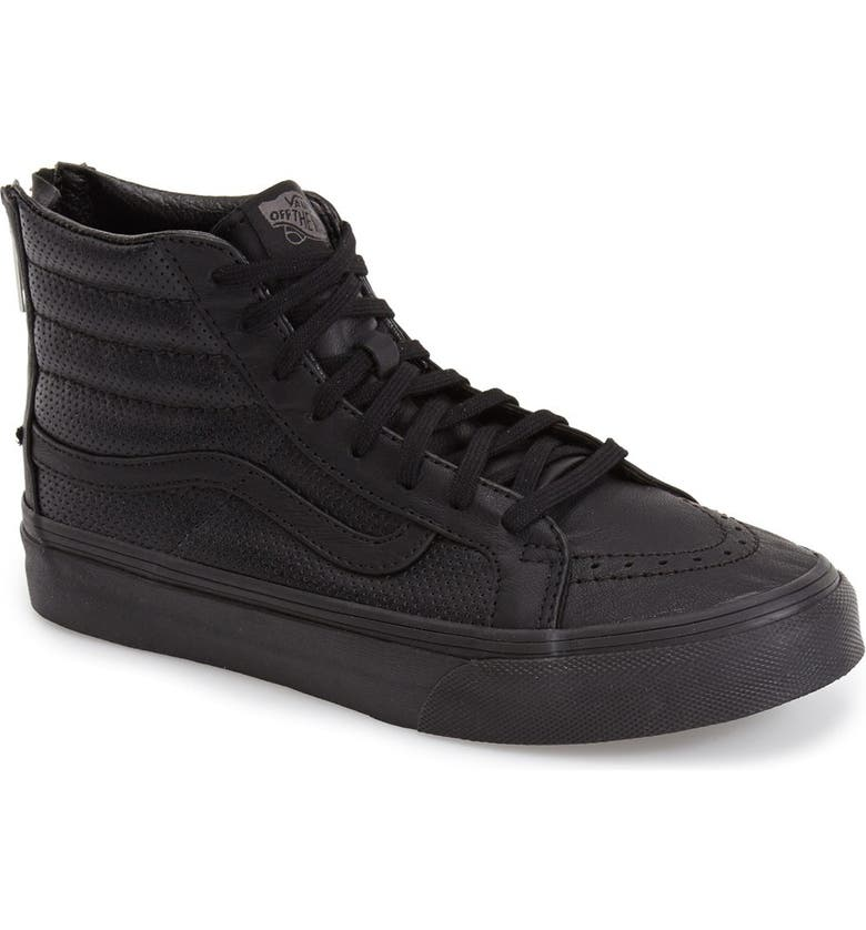 VANS 'Sk8-Hi Slim' Perforated Sneaker, Main, color, 001