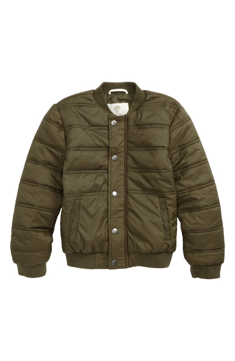 TUCKER + TATE Quilted Nylon Bomber Jacket, Main, color, 315