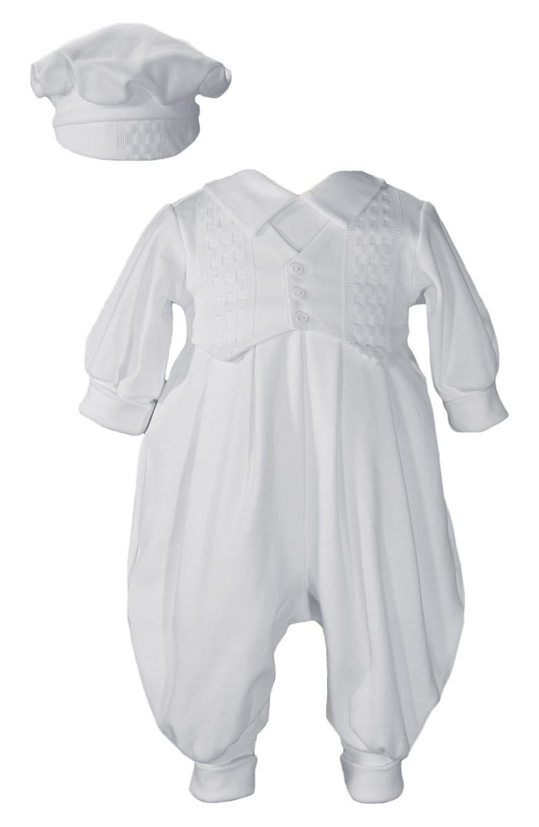 LITTLE THINGS MEAN A LOT Romper & Hat Set, Main, color, White