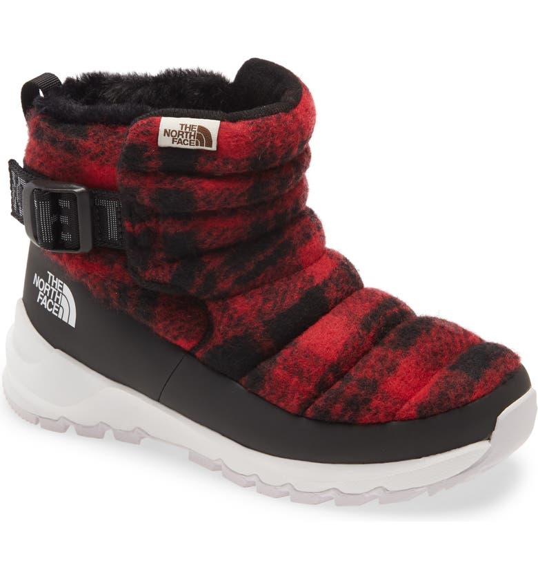 THE NORTH FACE Water Resistant ThermoBall<sup>™</sup> Boot, Main, color, TNF BLACK/ TNF RED PLAID