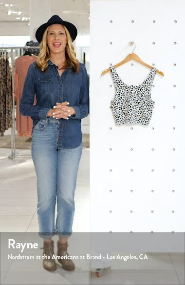Ice Leopard Crop Tank, sales video thumbnail