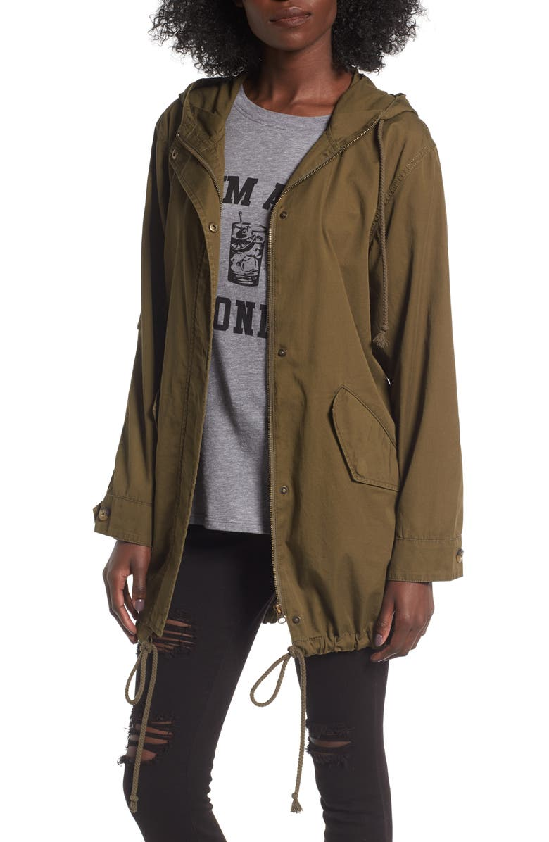 BP. Hooded Cotton Anorak, Main, color, OLIVE DARK