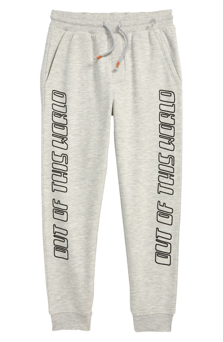 TUCKER + TATE x Smithsonian Kids' Fleece Sweatpants, Main, color, GREY LT HEATHER OUT THIS WORLD