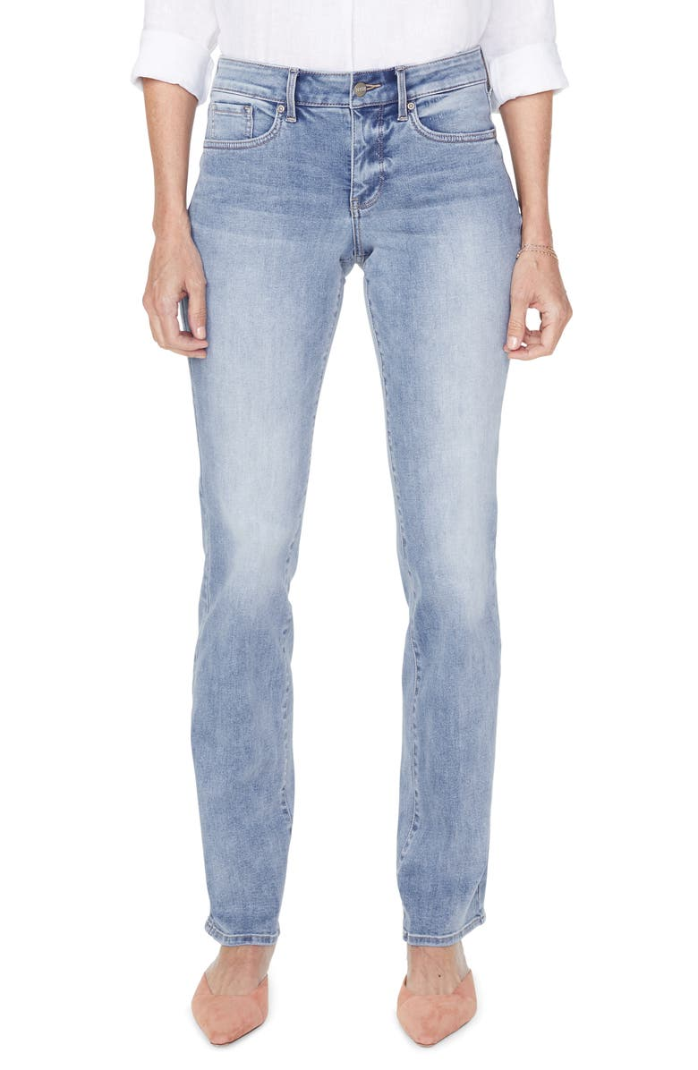 NYDJ Marilyn Straight Leg Jeans, Main, color, BISCAYNE