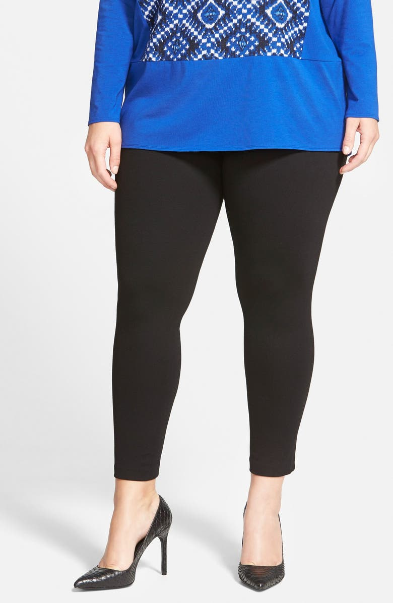 VINCE CAMUTO High Rise Leggings, Main, color, RICH BLACK