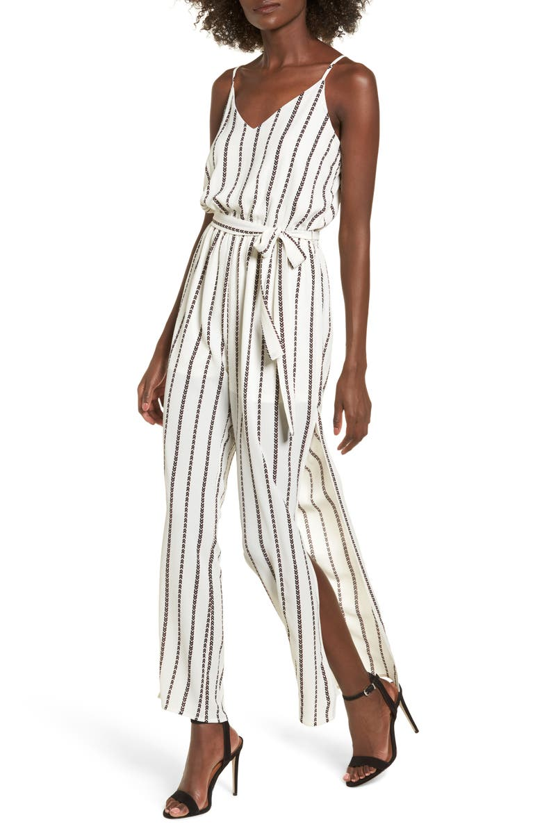 ONE CLOTHING Tie Waist Jumpsuit, Main, color, 902