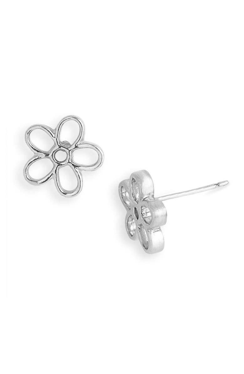 MARC BY MARC JACOBS Daisy Stud Earrings, Main, color, SILVER