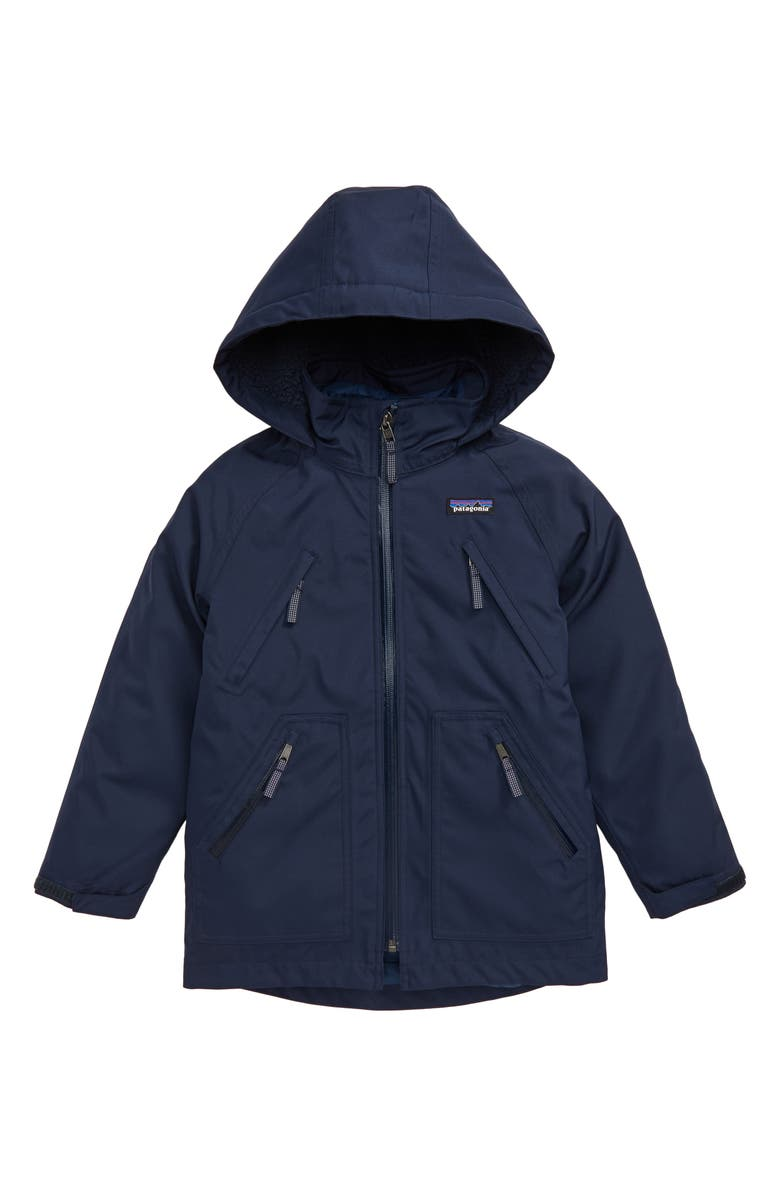 PATAGONIA Tres Water Repellent 3-in-1 Recycled Down Parka, Main, color, NEW NAVY