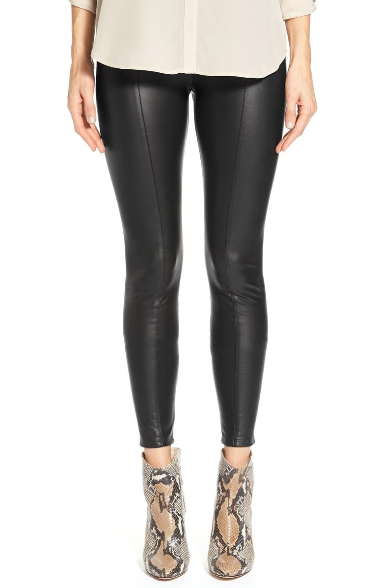 LYSSÉ High Waist Faux Leather Leggings, Main, color, BLACK