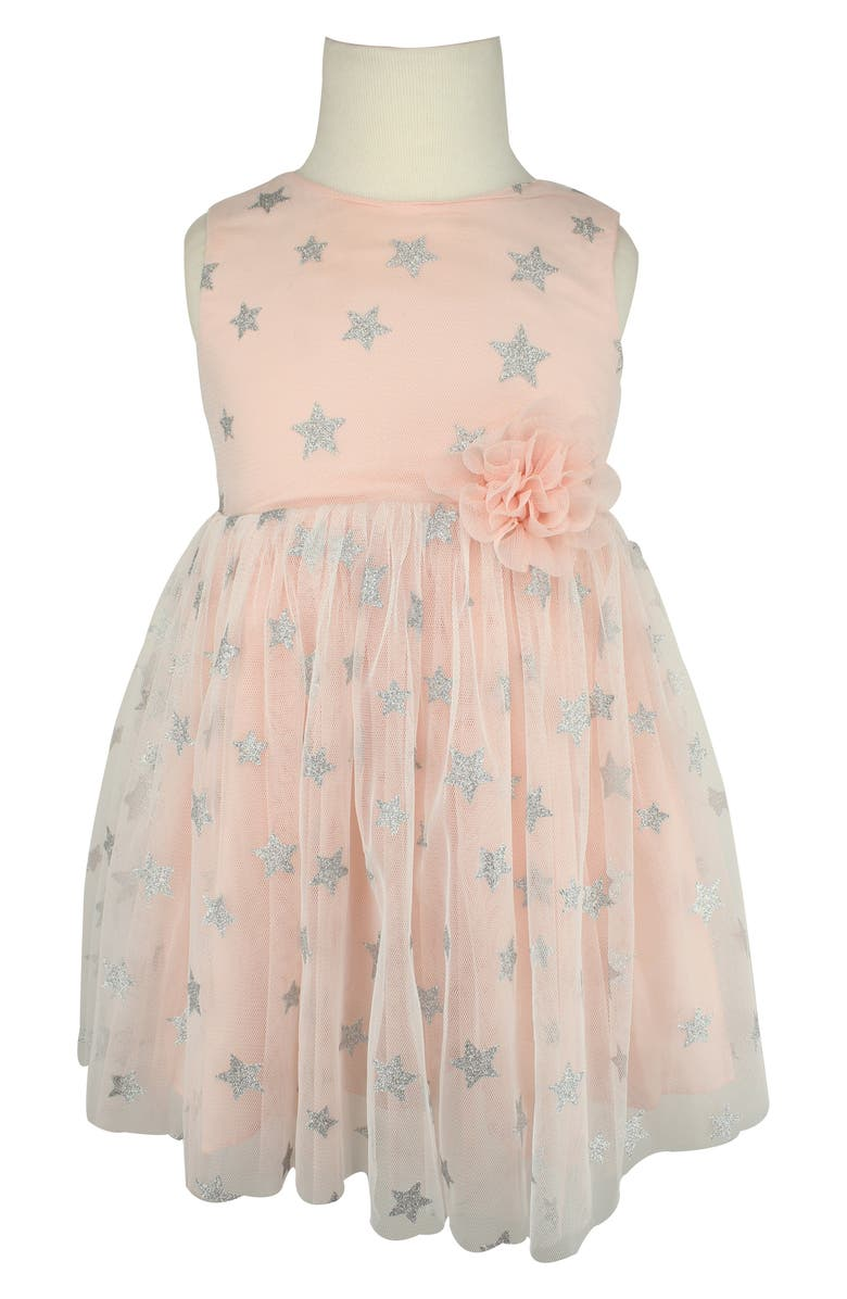 POPATU Glitter Star Tulle Dress, Main, color, 691