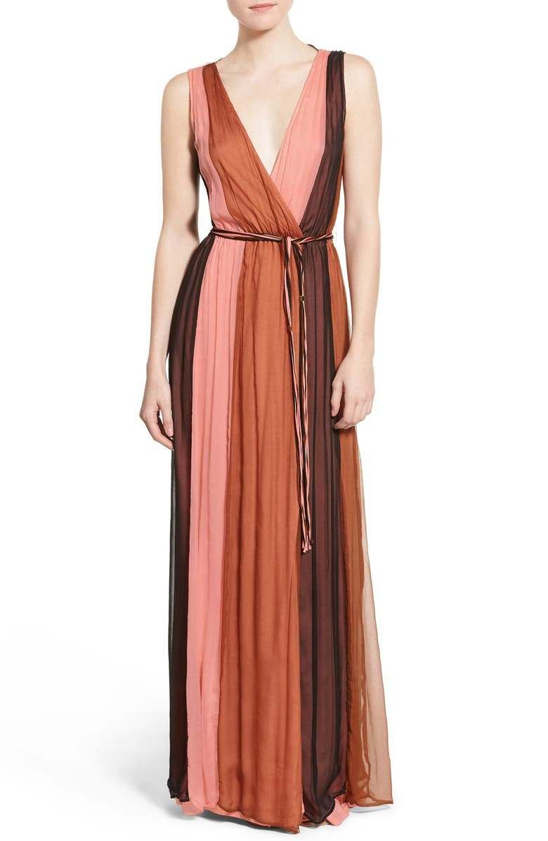 ELLA MOSS 'Ophelia' Colorblock Silk Maxi Dress, Main, color, 650