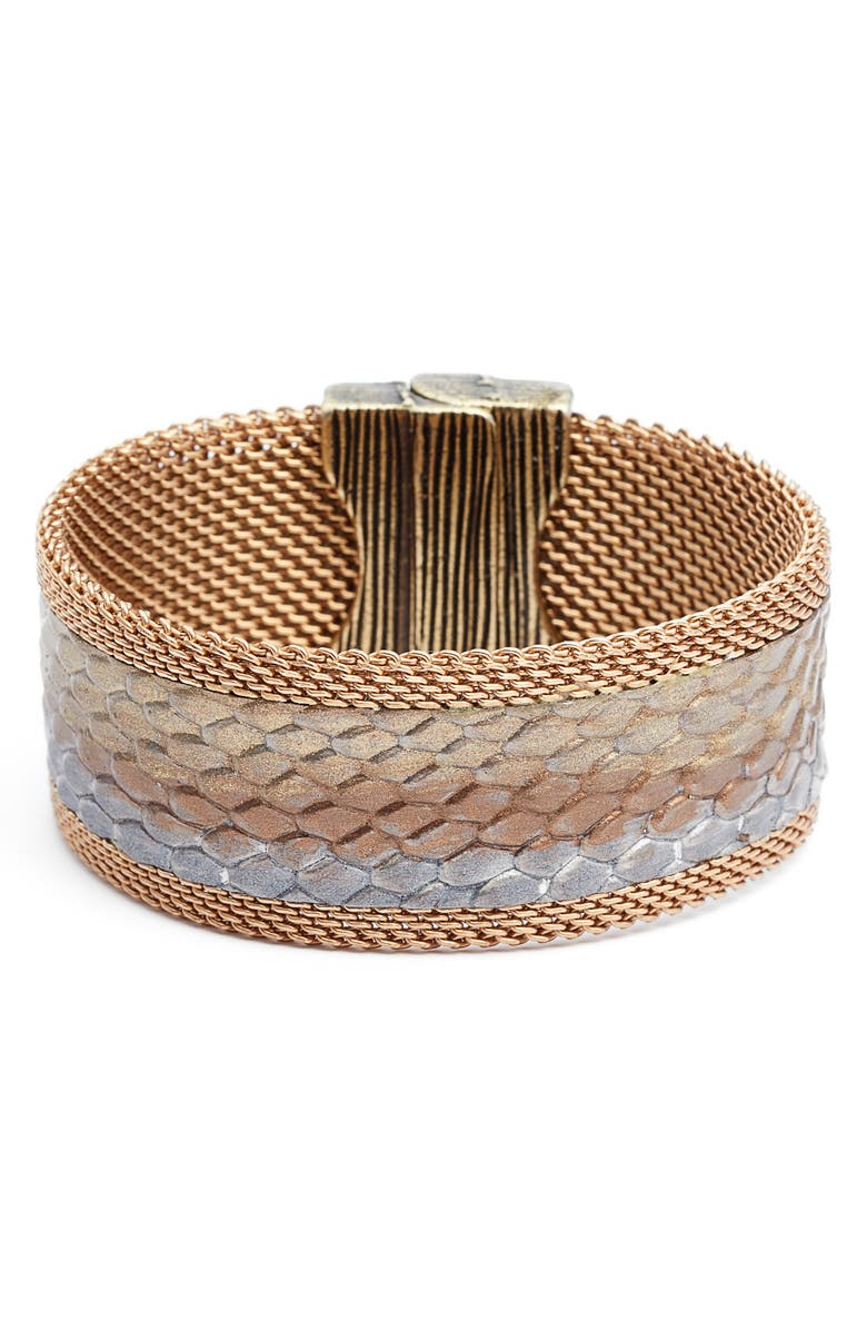 CYNTHIA DESSER Ombré Washed Leather Bracelet, Main, color, 710