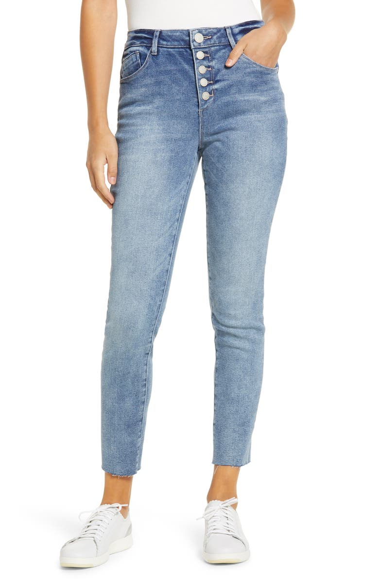 WIT & WISDOM Ab-Solution High Waist Crop Skinny Jeans, Main, color, 458