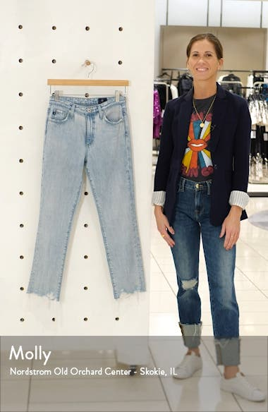 Isabelle High Waist Ankle Straight Leg Jeans, sales video thumbnail