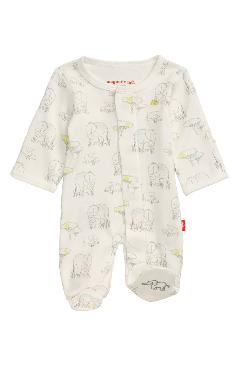 Magnetic Me Elephant Organic Cotton Footie Baby Nordstrom